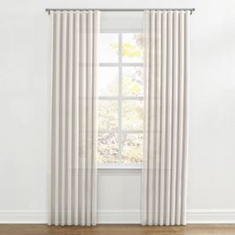 Ivory Gauzy Linen Ripplefold Curtains Close Up
