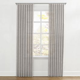 Light Gray Gauzy Linen Ripplefold Curtains Close Up