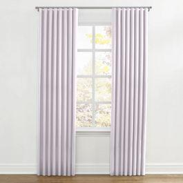 Light Purple Linen Ripplefold Curtains Close Up