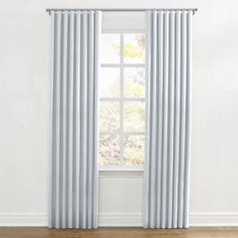 Pale Blue Linen Ripplefold Curtains Close Up