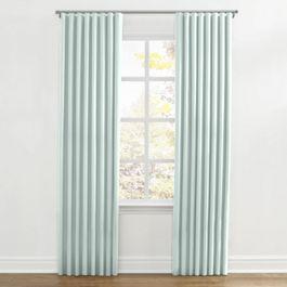 Pale Green Linen Ripplefold Curtains Close Up