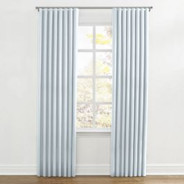 Powder Blue Linen Ripplefold Curtains Close Up