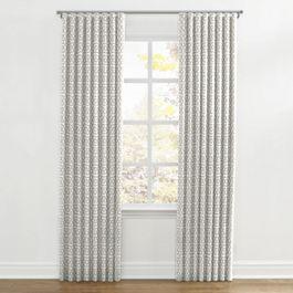Light Gray Trellis Ripplefold Curtains Close Up