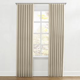 Tan Sunbrella® Canvas Ripplefold Curtains Close Up
