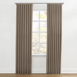 Taupe Sunbrella® Canvas Ripplefold Curtains Close Up