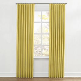 Bright Yellow Thin Stripe Ripplefold Curtains Close Up