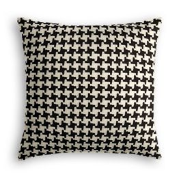 Black & White Houndstooth Pillow