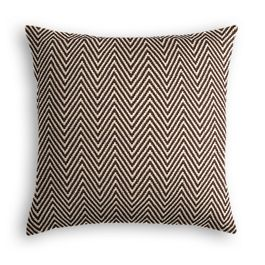 Knitted Brown Chevron Pillow