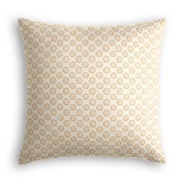 Metallic Gold Dot Pillow