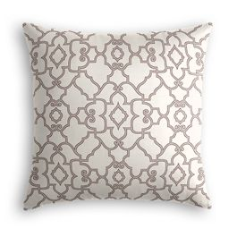 Gray Moroccan Trellis Pillow