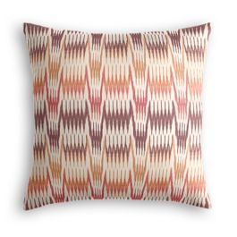 Orange & Pink Flame Stitch Pillow