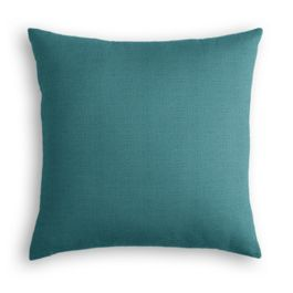 Dark Teal Linen Pillow