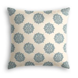 Blue Medallion Block Print Pillow