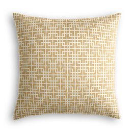 Beige Square Lattice Pillow