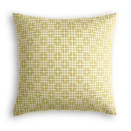 Green Square Lattice Pillow