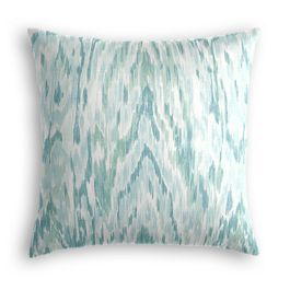 Aqua Blue Watercolor Pillow