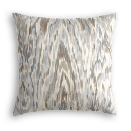 Tan & Gray Faux Bois Pillow