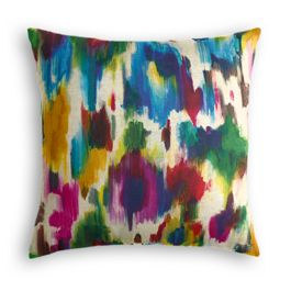 Multicolor Watercolor Pillow