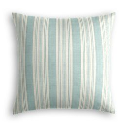 Handwoven Aqua Stripe Pillow