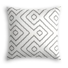 White & Gray Diamond Pillow