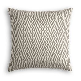 Taupe Geometric Maze Pillow