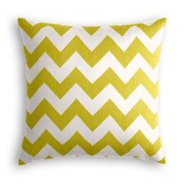 Lime Green Chevron Pillow
