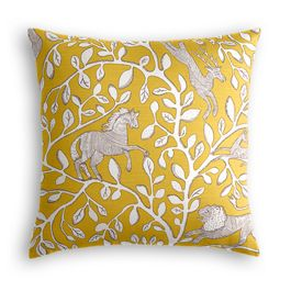 Yellow Animal Motif Pillow