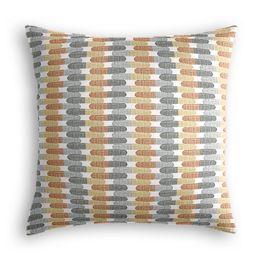 Mod Gray & Orange Geometric Pillow