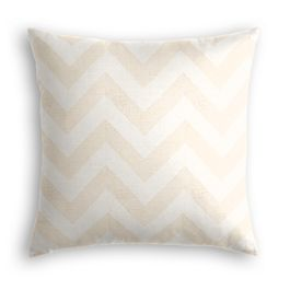 Metallic White & Gold Chevron Pillow