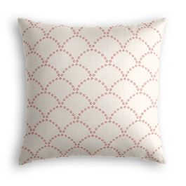 Embroidered Pink Scallop Pillow