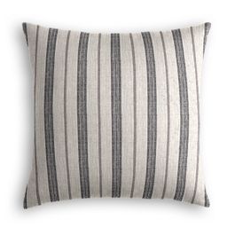 Rustic Gray Stripe Pillow