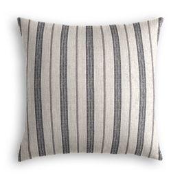 Rustic Gray Stripe Pillow