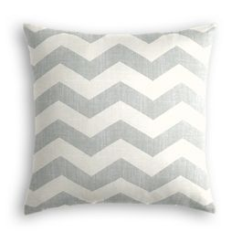 Light Gray Chevron Pillow
