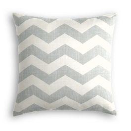 Light Gray Chevron Pillow