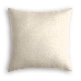 Golden White Metallic Linen Pillow