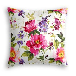 Chintz-like Pink Floral Pillow