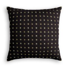 Gold Studded Black Pillow