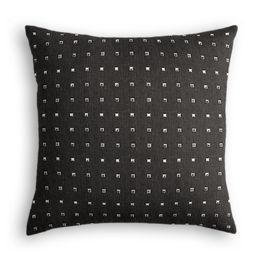 Silver Studded Charcoal Pillow