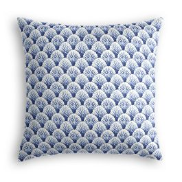 Nautical Blue Scallop Pillow