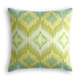 Aqua & Green Flame Stitch Pillow