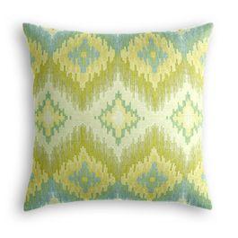 Aqua & Green Flame Stitch Pillow