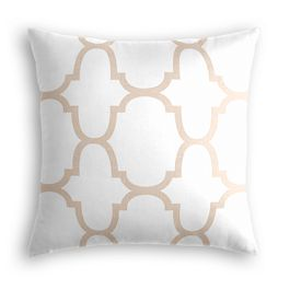 Light Beige Quatrefoil Pillow