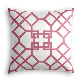 Asian Pink Trellis Pillow