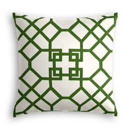 Asian Green Trellis Pillow