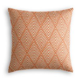 Tribal Orange Diamond Pillow