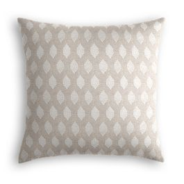 Light Taupe Diamond Pillow
