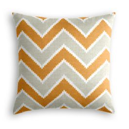 Tan & Orange Chevron  Pillow