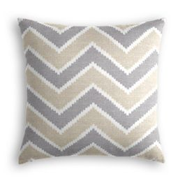 Tan & Gray Chevron Pillow