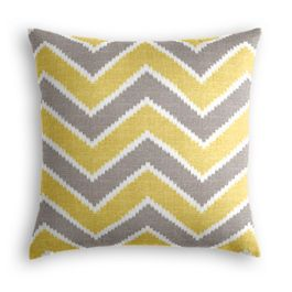 Gray & Yellow Chevron Pillow