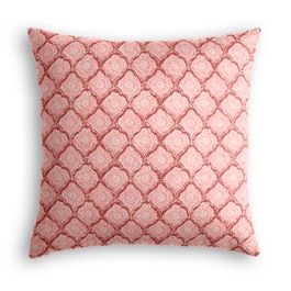 Pink Block Print Pillow